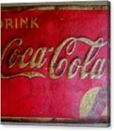 Vintage Coca-cola Sign Canvas Print