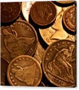 Vintage Coins Canvas Print