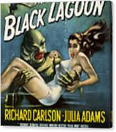 Vintage Creature From The Black Lagoon Poster Canvas Print