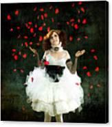 Vintage Dancer Series Raining Rose Petals  Canvas Print