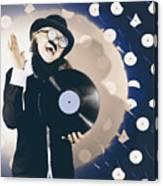 Vintage Dj Bringing Back The Retro Beat Canvas Print