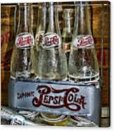 Vintage Double Dot Metal Pepsi Carrier. Canvas Print