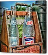 Vintage Double Dot Wooded Pepsi Carrier Canvas Print