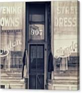 Vintage Dress Shop Canvas Print