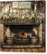Vintage Fireplace Canvas Print