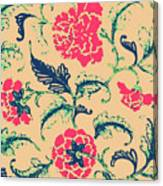 Vintage Flower Design Canvas Print