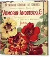 Vintage Flower Seed Cover Paris Rare Canvas Print