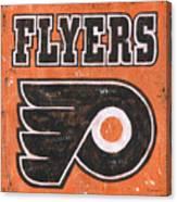 Vintage Flyers Sign Canvas Print
