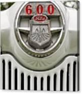 Vintage Ford 600 Nameplate Emblem Canvas Print