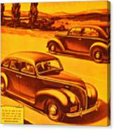 Vintage Ford Advertisement Canvas Print