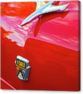 Vintage Ford Hood Ornament Havana Cuba Canvas Print