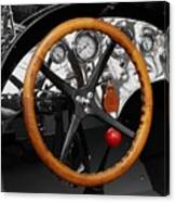 Vintage Ford Racer Dashboard Canvas Print