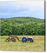 Vintage Ford Tractor Tilt Shift Canvas Print