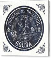 Vintage French Cheese Label 1 Canvas Print