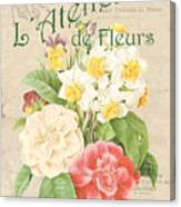 Vintage French Flower Shop 1 Canvas Print
