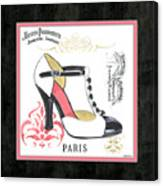 Vintage French Shoes 1 Canvas Print