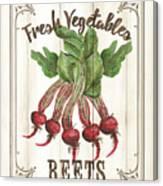 Vintage Fresh Vegetables 1 Canvas Print