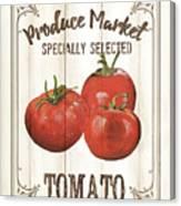 Vintage Fresh Vegetables 4 Canvas Print