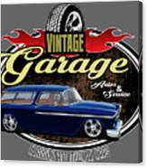 Vintage Garage With Nomad Canvas Print