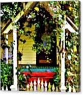 Vintage Garden Arbor Gate Canvas Print
