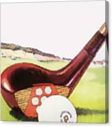 Vintage Golf Art - Circa 1920's Canvas Print