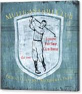 Vintage Golf Blue 1 Canvas Print