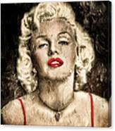Vintage Grunge Goddess Marilyn Monroe  Canvas Print