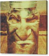 Vintage Halloween Horror Jar Canvas Print
