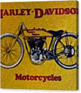 Vintage Harley Davidson Canvas Print