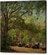 Vintage Harvey Trucks In Northwest Florida Canvas Print
