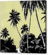 Vintage Hawaii Palms Canvas Print