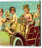Vintage Holiday Postcard Canvas Print
