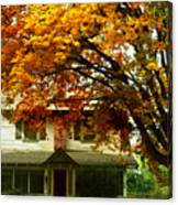 Vintage Home In Autumn Canvas Print