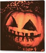 Vintage Horror Pumpkin Head Canvas Print