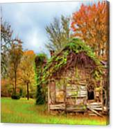 Vintage House Surrounded By Autumn Beauty Ap Canvas Print