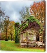 Vintage House Surrounded By Autumn Beauty Canvas Print