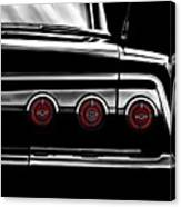 Vintage Impala Black And White Canvas Print