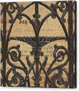 Vintage Iron Scroll Gate 1 Canvas Print
