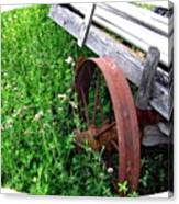 Vintage Irrigation Wagon Canvas Print