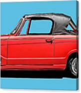 Vintage Italian Automobile Red Tee Canvas Print
