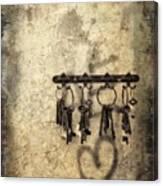 Vintage Keys Canvas Print