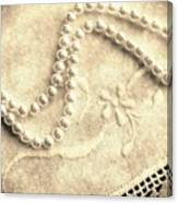 Vintage Lace And Pearls Canvas Print