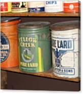 Vintage Lard Can Canvas Print