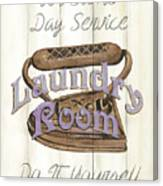 Vintage Laundry Room 1 Canvas Print