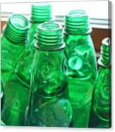 Vintage Lemonade Glass Bottles Canvas Print