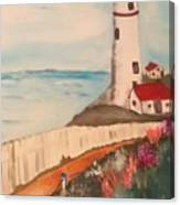 Vintage Lighthouse Canvas Print