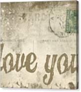 Vintage Love Letters Canvas Print