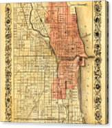 Vintage Map Of Chicago Fire Photograph By Stephen Stookey