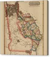 Antique Map Of Georgia Canvas Print