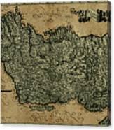 Vintage Map Of Ireland 1771 Canvas Print